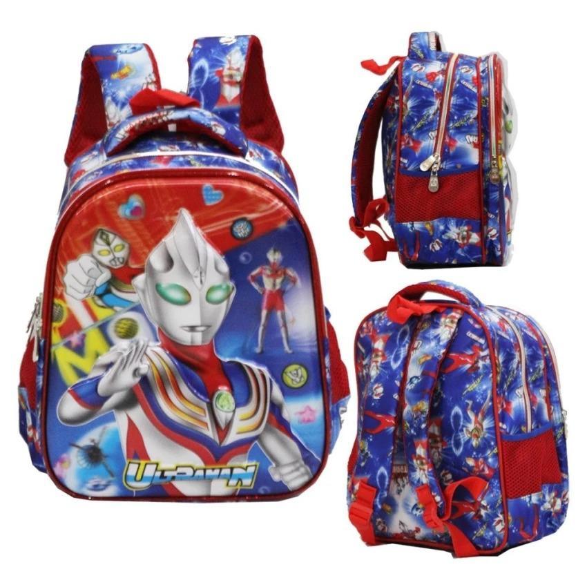 Spesifikasi Shoppies Tas Ransel Ultra Man Paud Anak Sekolah Tk 2 Kantung Import Karakter Anak Laki Laki Lengkap