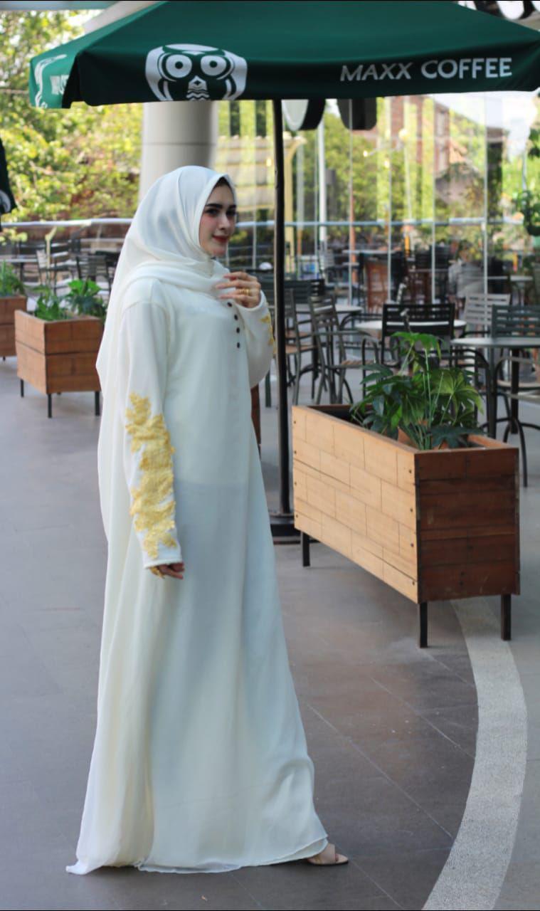 Fitur Nurulcollection Baju Gamis Syari Ceruty Premium Terbaru Polos