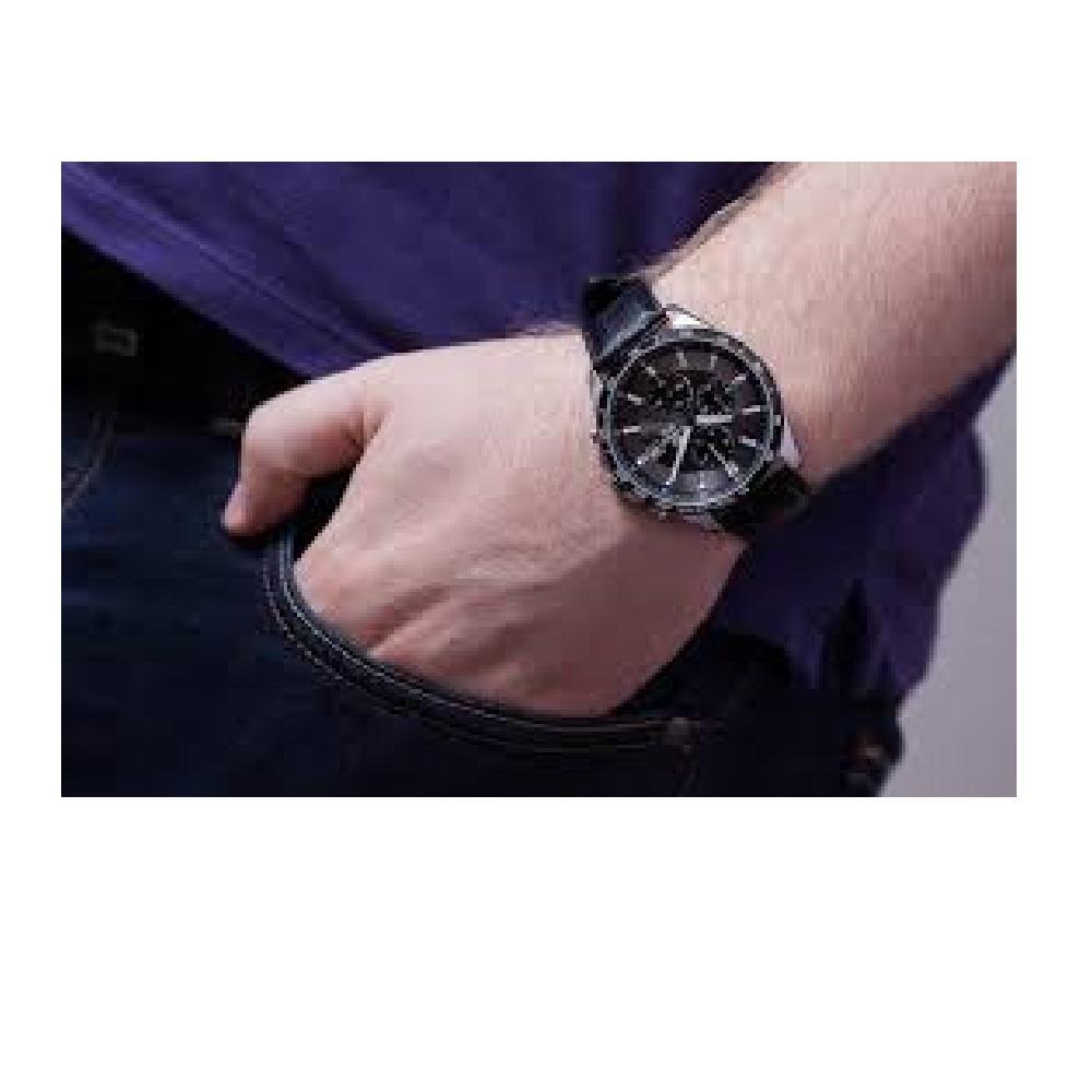 ... Casio Edifice EFR-512L-8AVDF Jam Tangan Pria Leather Strap - 4
