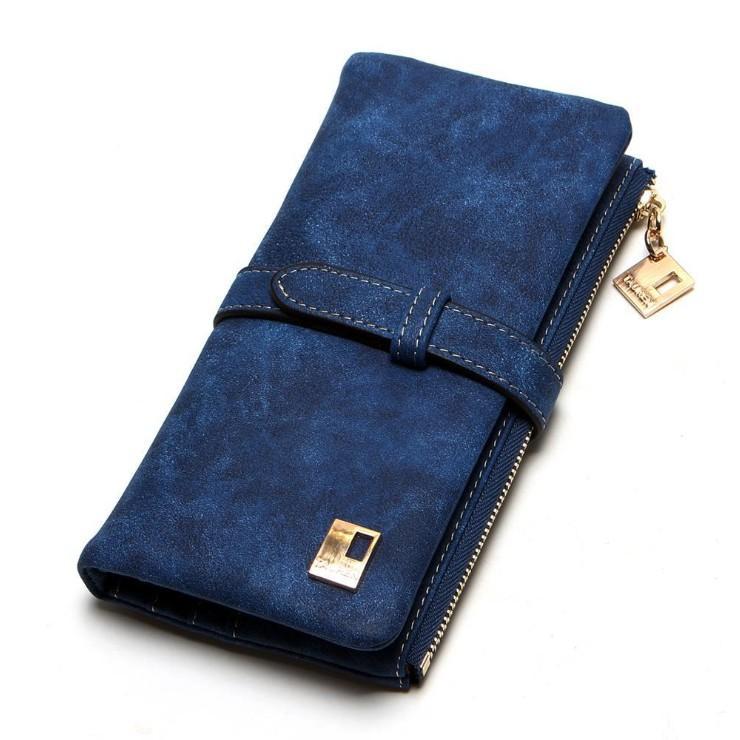Dompet Panjang Kulit Premium Wanita Impor Women Wallet Purse Zipper WF013