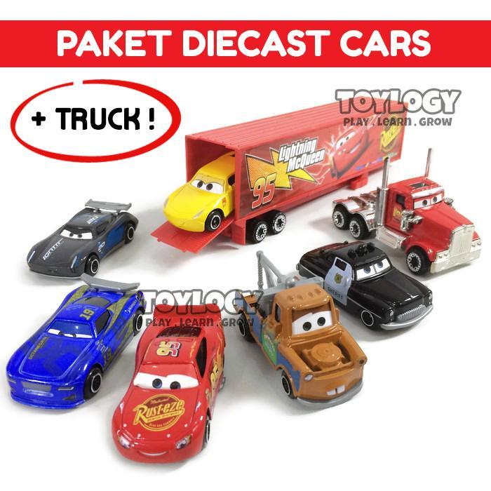 Toylogy Mainan Anak Paket Diecast Cars isi 6 Mobil dan 1 Truck
