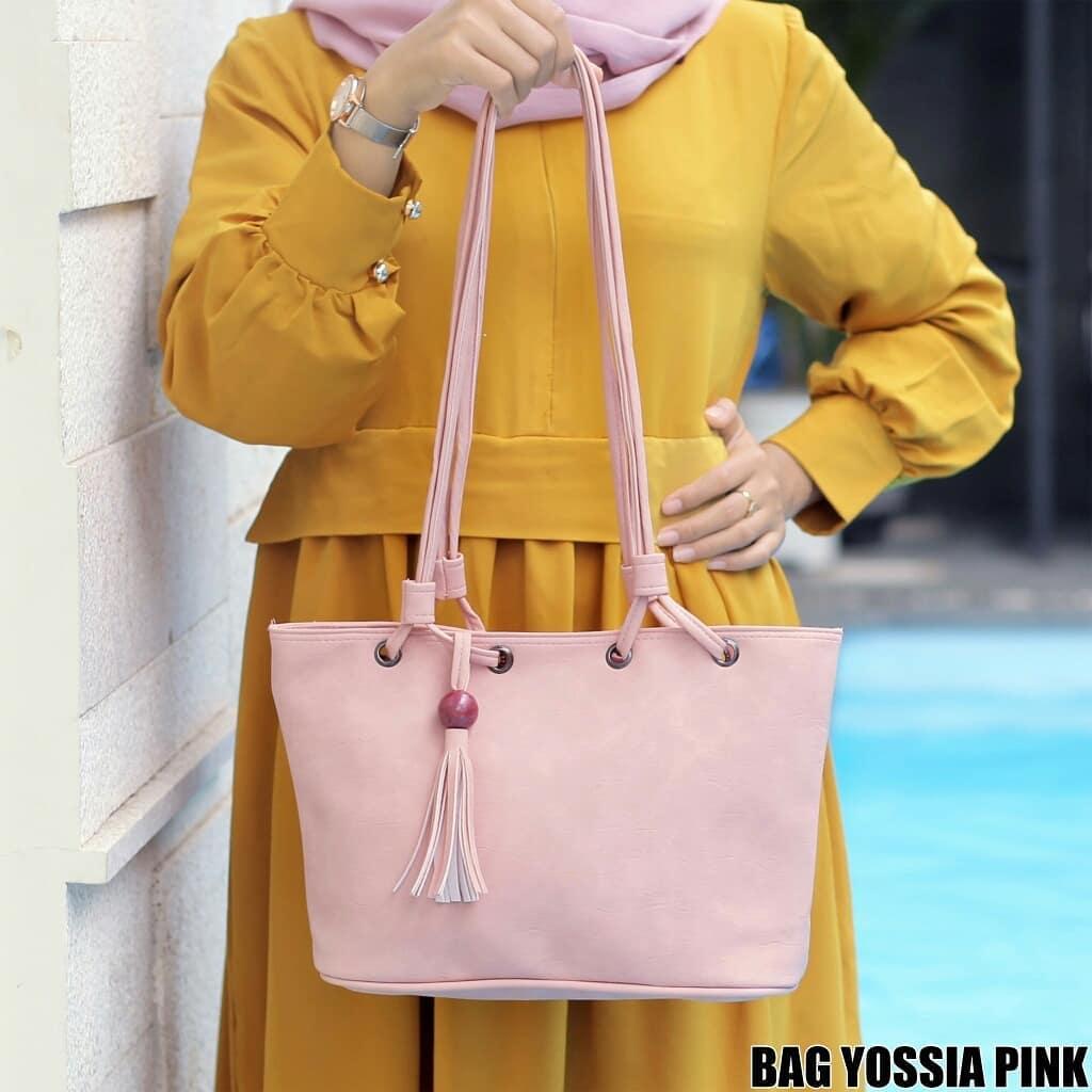 ubay shop tote bag kuncir tas bahu wanita kuncir