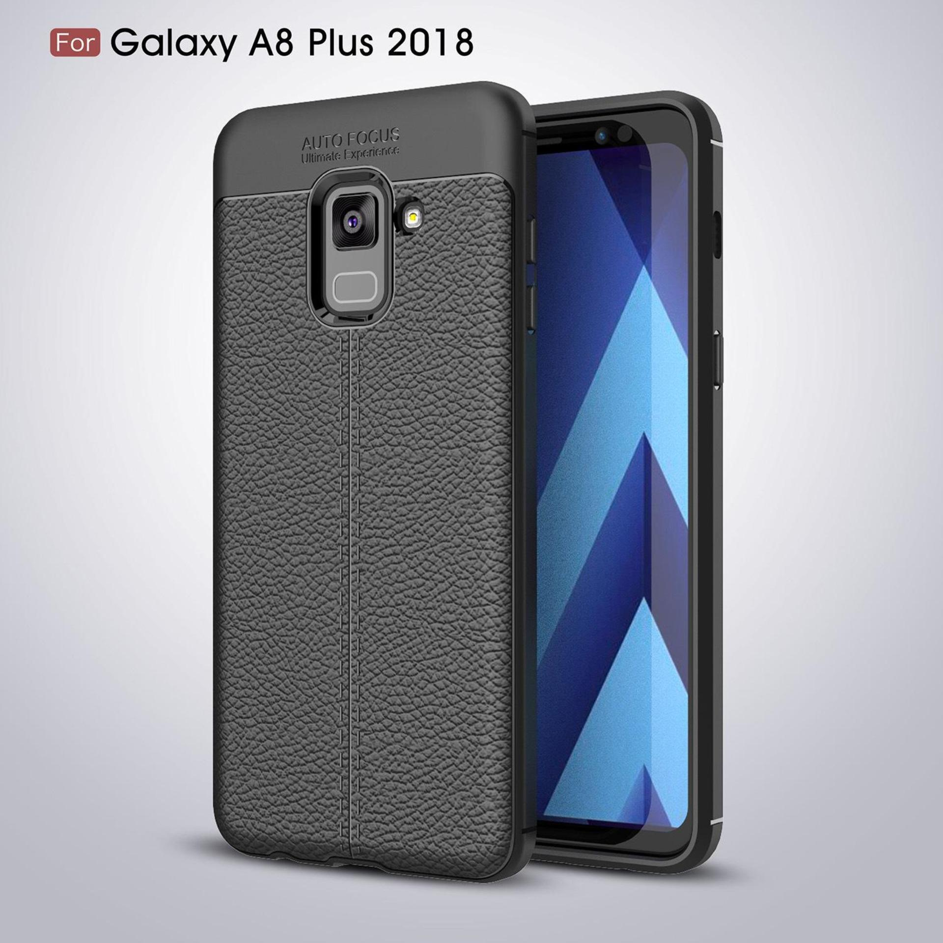 Case Leather Ultimate Experience Shockproof Premium Quality Hybrid Grade A Case for Samsung Galaxy A8 Plus