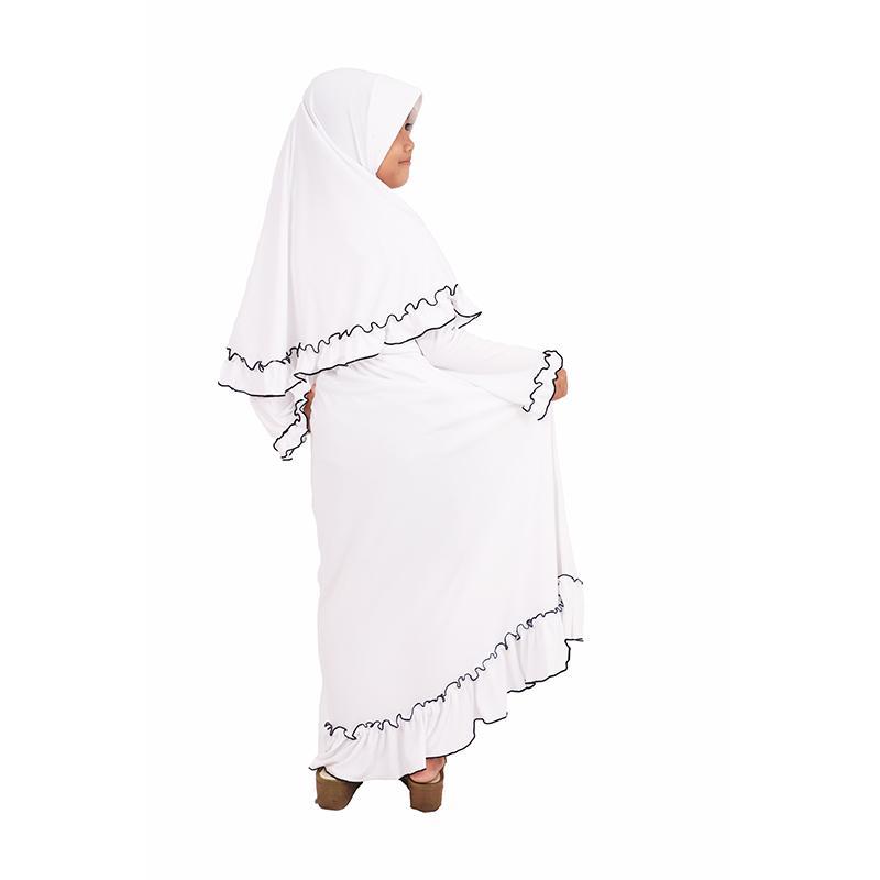 ... Baju Muslim anak/Gamis murah model terbaru kekinian Ori by Jafah Jersey - Putih -