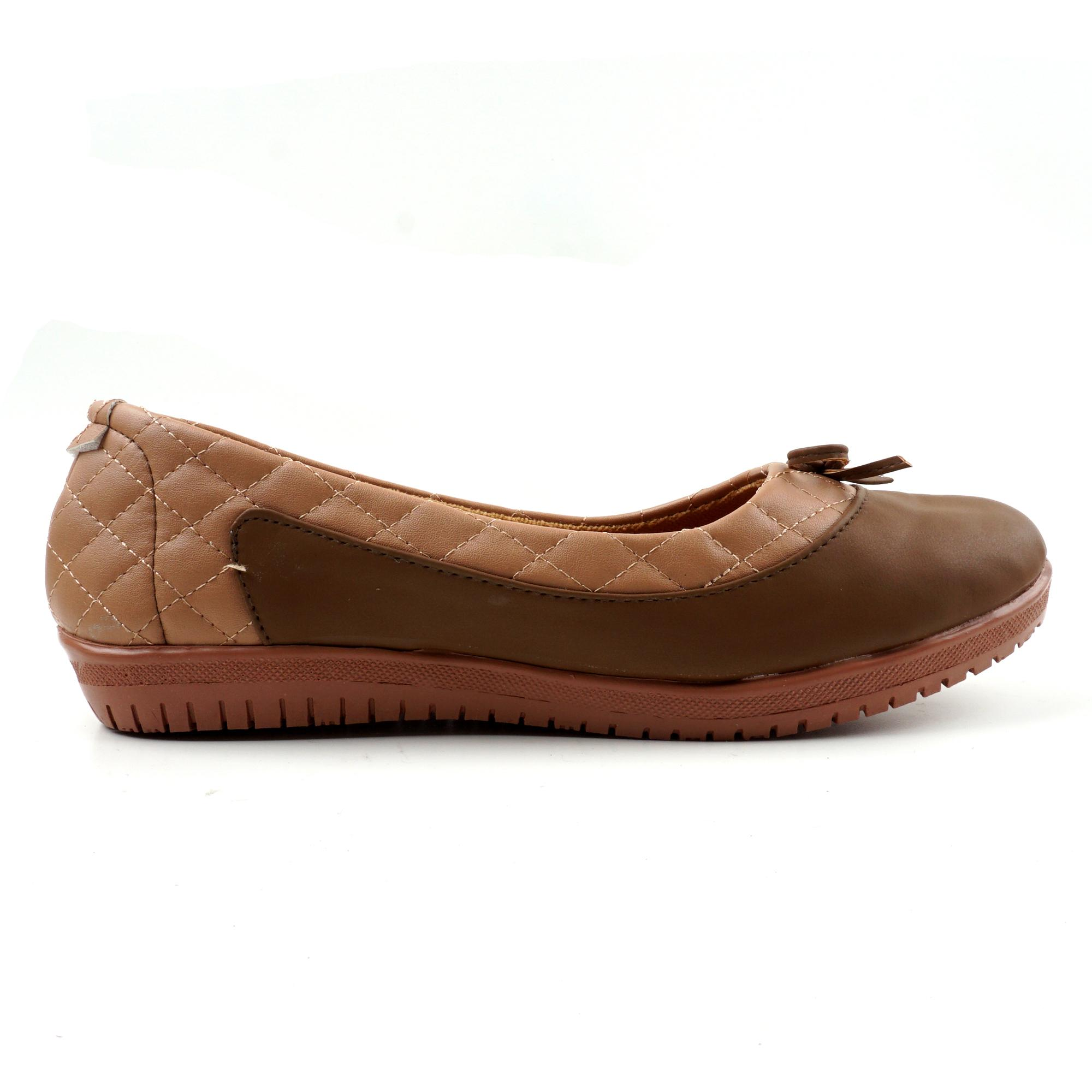 Detail Gambar Pluvia - Sepatu Flat Shoes Slip On Wanita Quilted BL08 - Coklat Moka / Hitam Terbaru