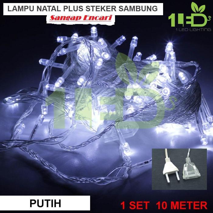 Lampu LED Dekorasi Dan Hias Tumblr Natal Twinkle Light Warna Putih 10 Meter FULL + Ada