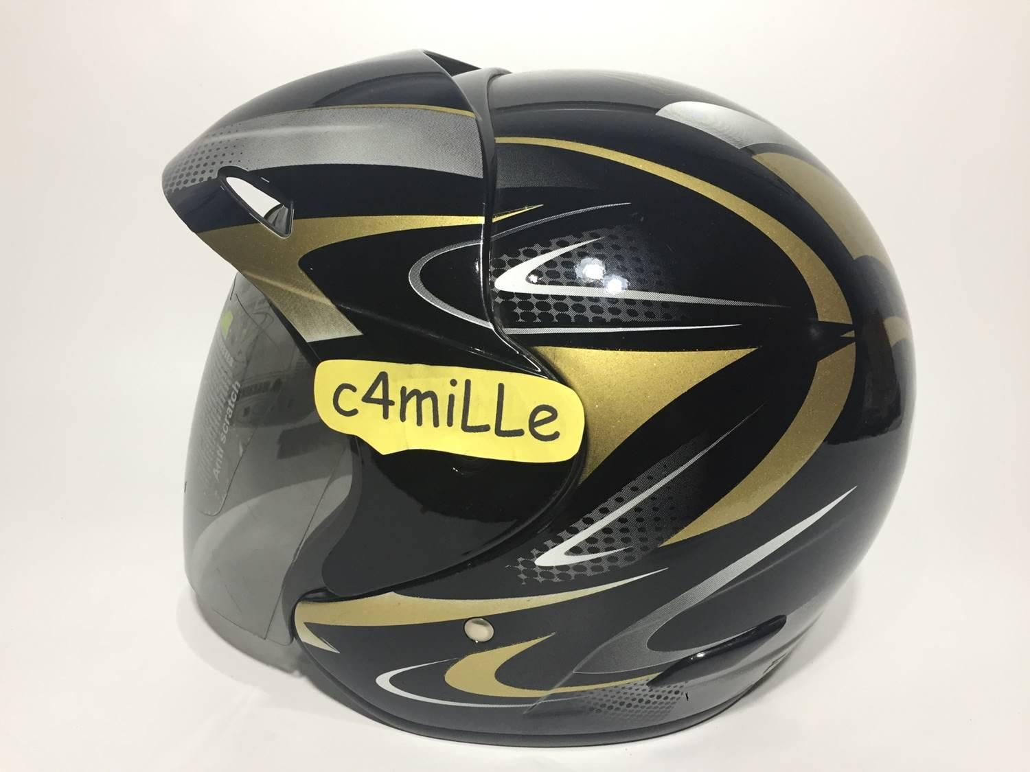 HELM BMC 560R #27 BLACK GOLD HALF FACE 560