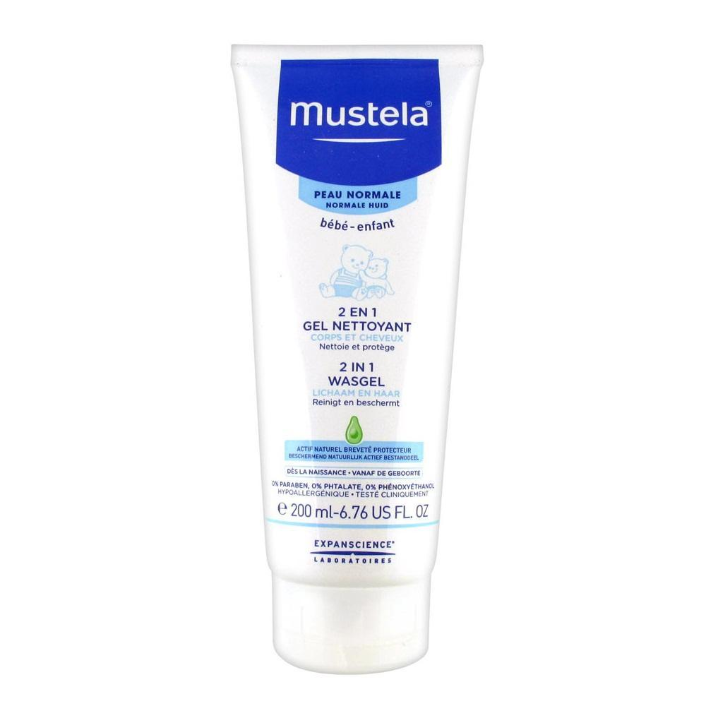 Mustela Bebe 2in1 Cleansing Gel Hair & Body Wash Sabun Shampoo Bayi 200ml