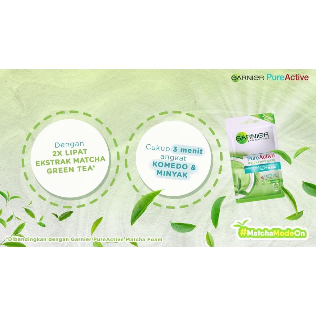 Fitur Garnier Pure Active Matcha Clay Mask Bpom Dan Acne Care Whitening Cream 20ml Detail Gambar Terbaru