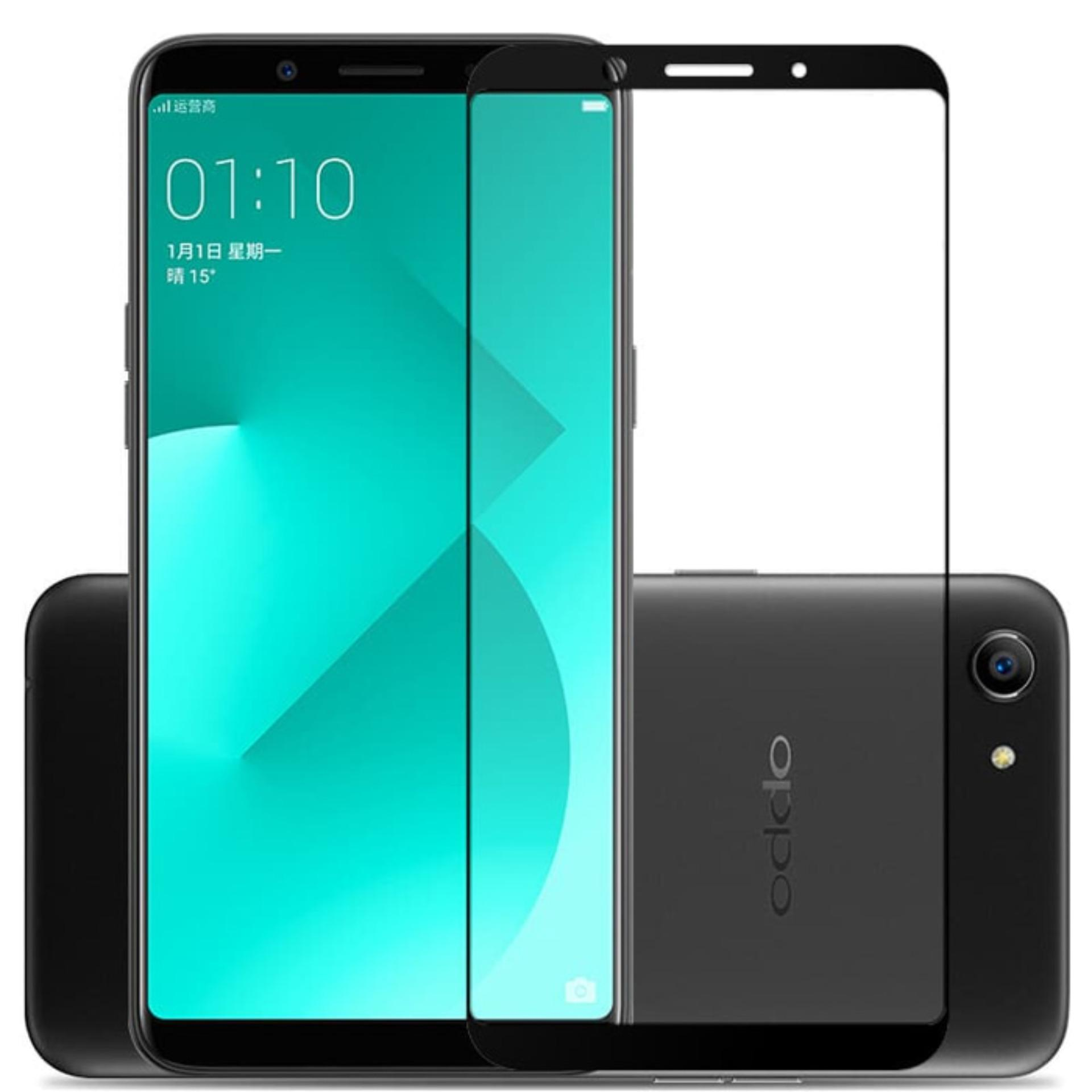 Tempered Glass / Anti Gores Kaca Oppo A83 3D Full Color - Hitam