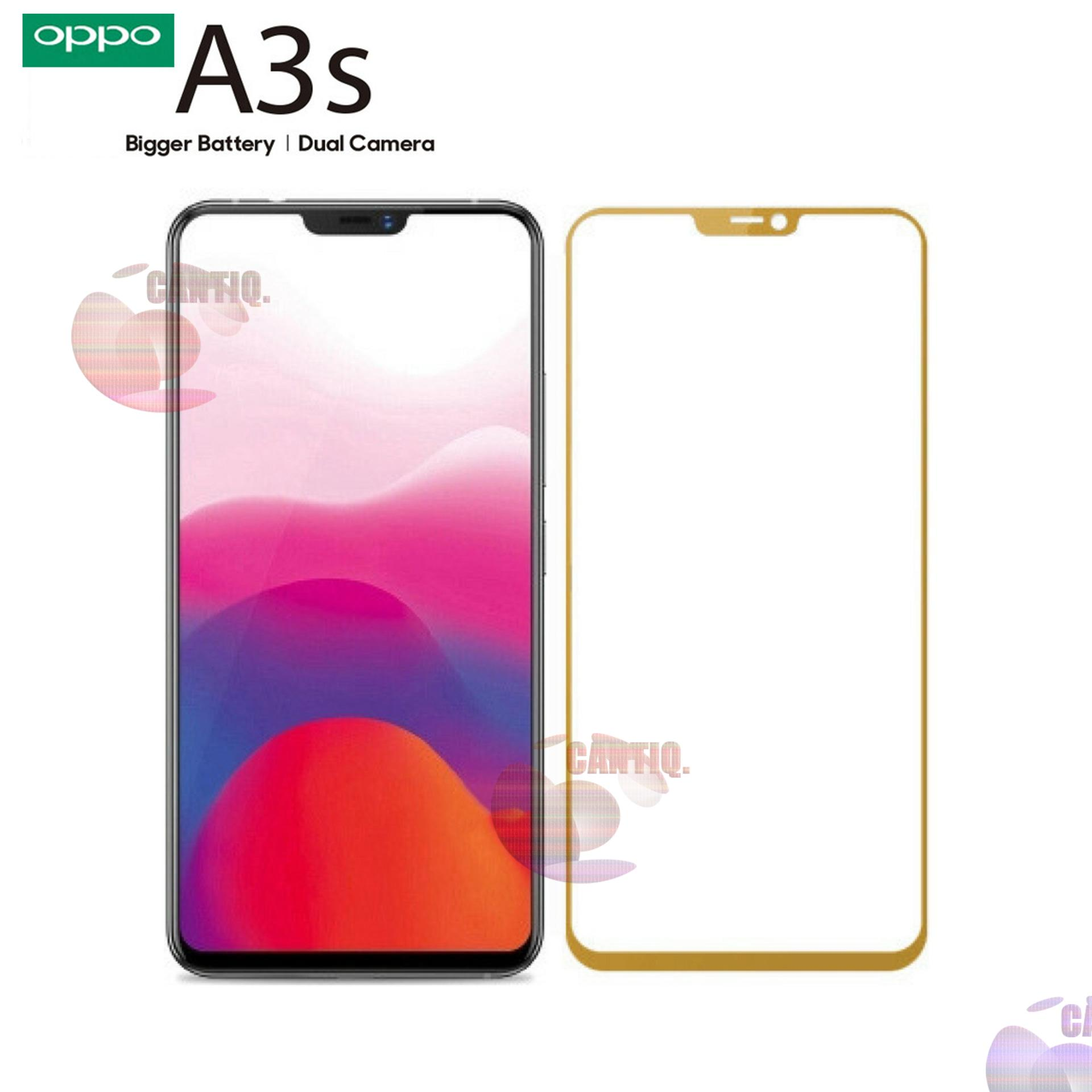 Detail Gambar Tempered Glass Full Screen Gold Oppo A3S 9H Screen Anti Gores Kaca / Screen Protection / Temper Oppo A3S / Pelindung Layar Kaca Full Oppo A3S ...