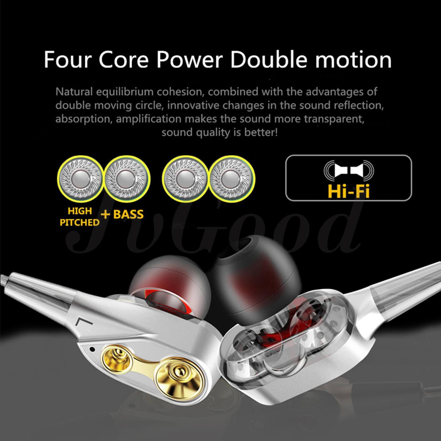 Detail Gambar JvGood Wired Earbuds In-Ear Stereo Earphones Richer Bass HiFi Stereo Noise Cancelling