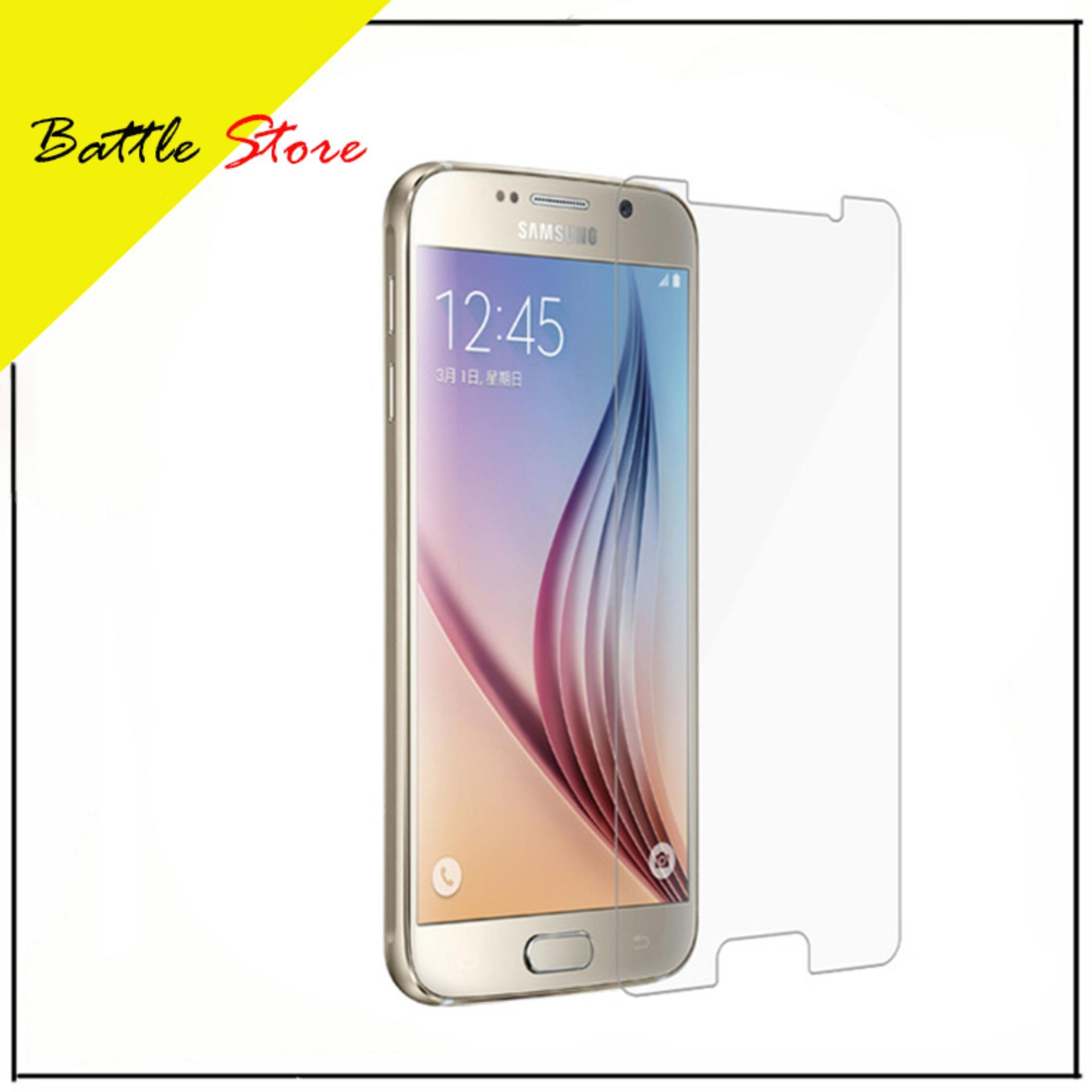 Samsung Galaxy S6 Flat Premium Smile Screen Protector Tempered Glass / Anti Gores Kaca - White