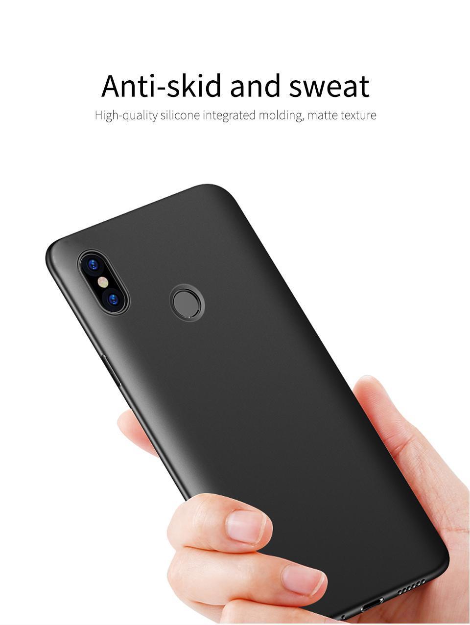 ... Caselova UltraSlim Black Matte Hybrid Case for Xiaomi Redmi S2 - Black + Gratis Camera Protector ...