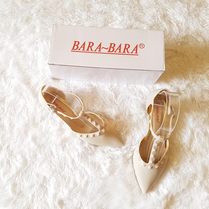 Promo Toko Bara Bara Jelly Shoes Sepatu Hak Tinggi Mule Wanita Dari Bara Bara Tinggi 3 Cm Md45 158558Tlp