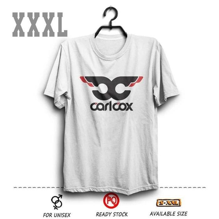 Kaos DJ Carlcox Putih BIG SIZE XXXL ( Djakarta Warehouse Project DWP
