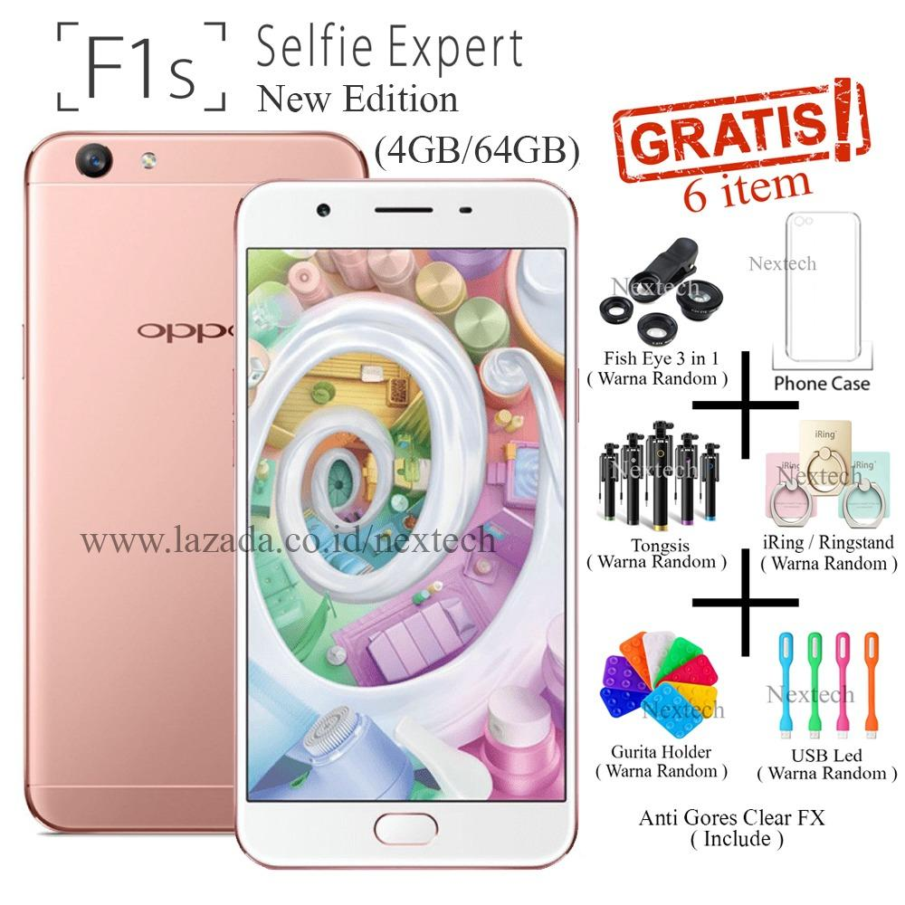 Oppo F1s New Edition - Selfie Expert - Ram 4GB -  64GB - Rose Gold