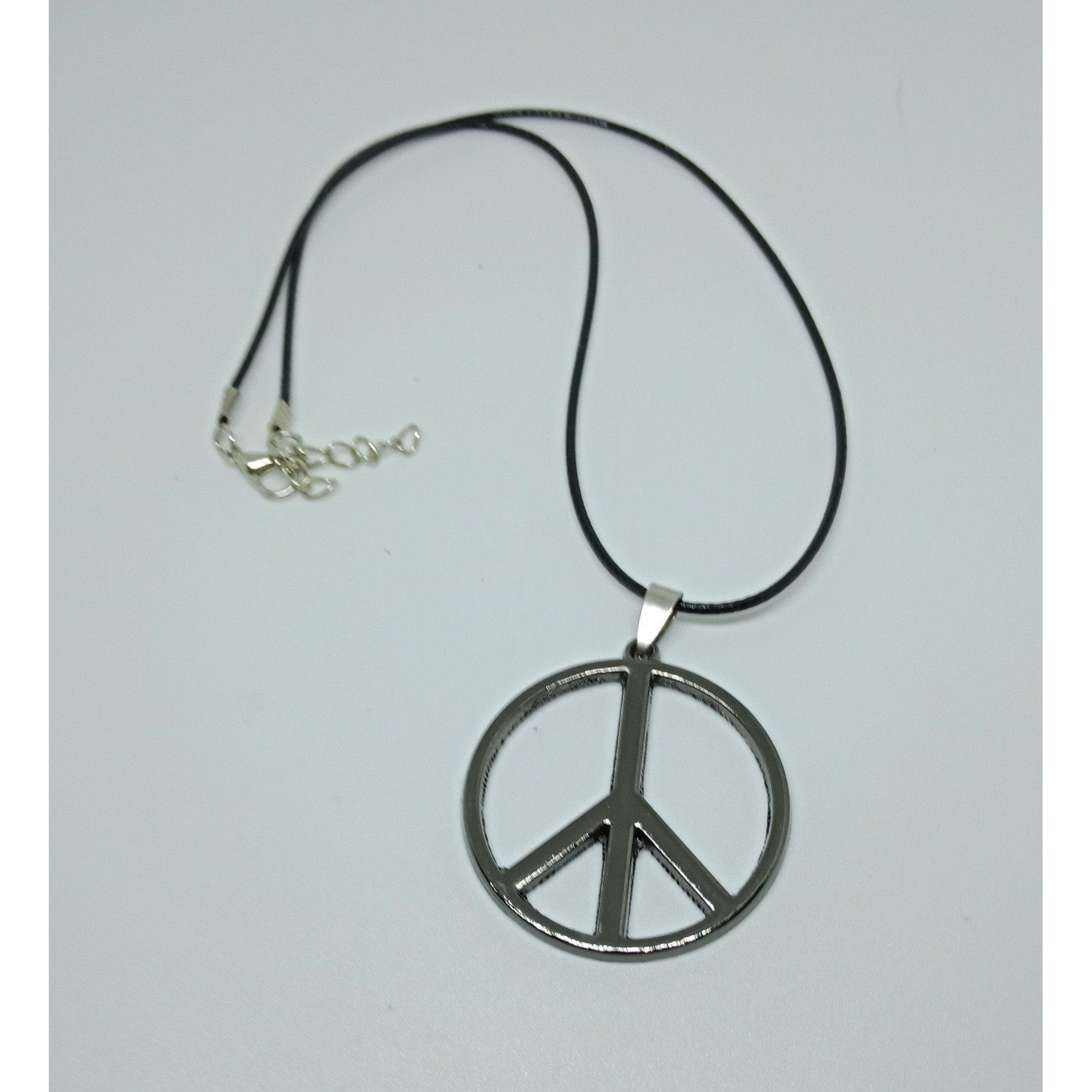 ... Robagin kalung lambang perdamaian 4cm stainless pgs41 - 4