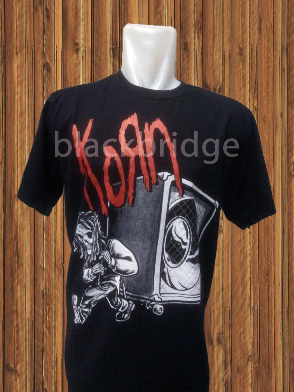 Kaos Pendek / Oblong Band Rock / Metal / Punk PRAPATAN REBEL (Size L) - KORN