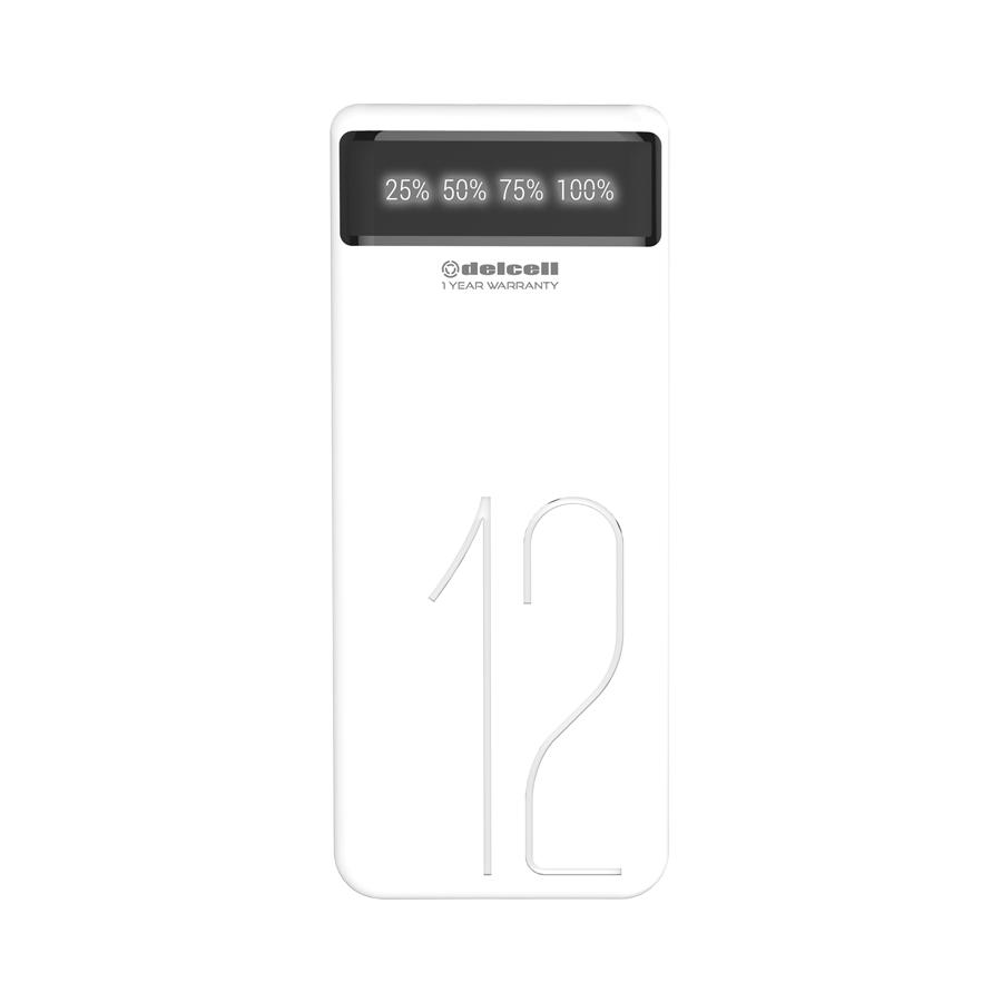 ... New Arrival Delcell 12000mAh Powerbank GIGA Real Capacity Dual Output Fast Charging Digital Display Garansi Resmi ...