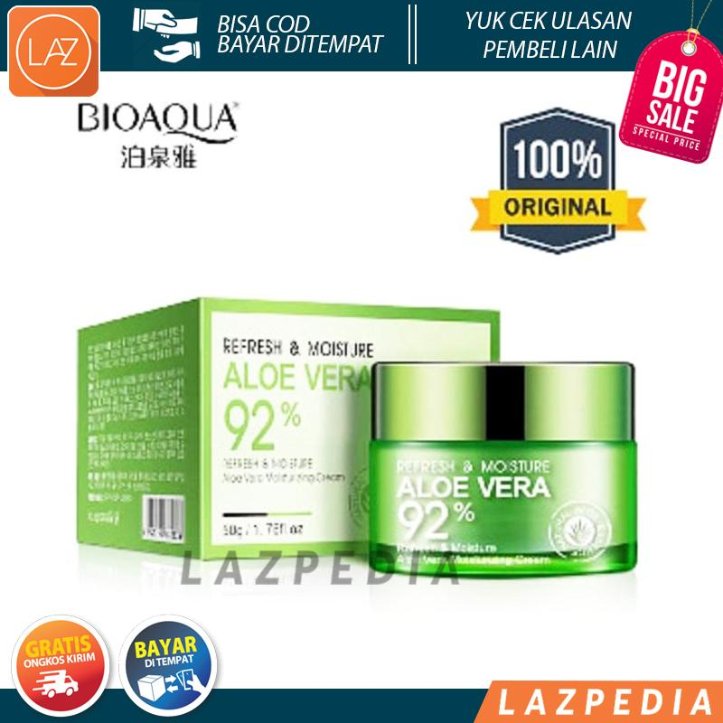 Detail Gambar Laz COD - Dijamin Original BioAqua Aloe Vera 92% Serum Wajah Essence Soothing Gel Serum Krim Wajah Original 100% / Bioaqua Aloevera / Lidah ...