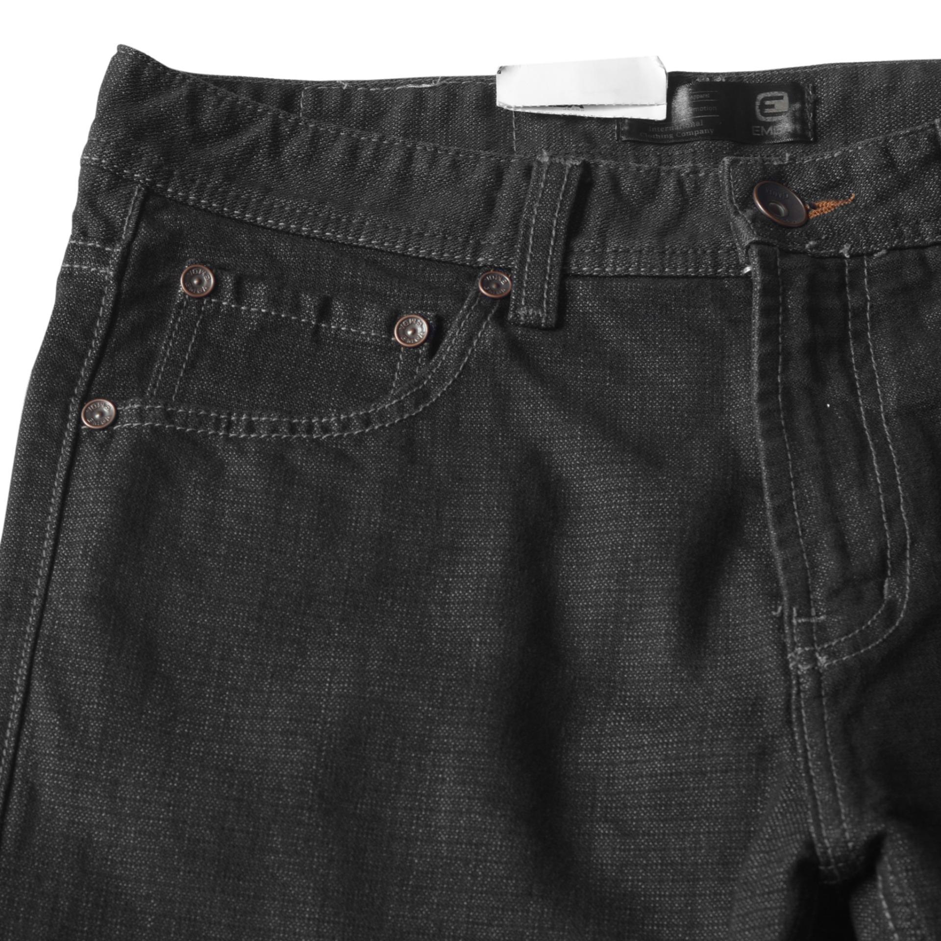 Emba Jeans Celana Panjang Pria Rodensi One 613 10138 20 Heavy Stone Fm316 Warna Hs Medium Biru 30 Bs 081 Jordan Regular Jet Black
