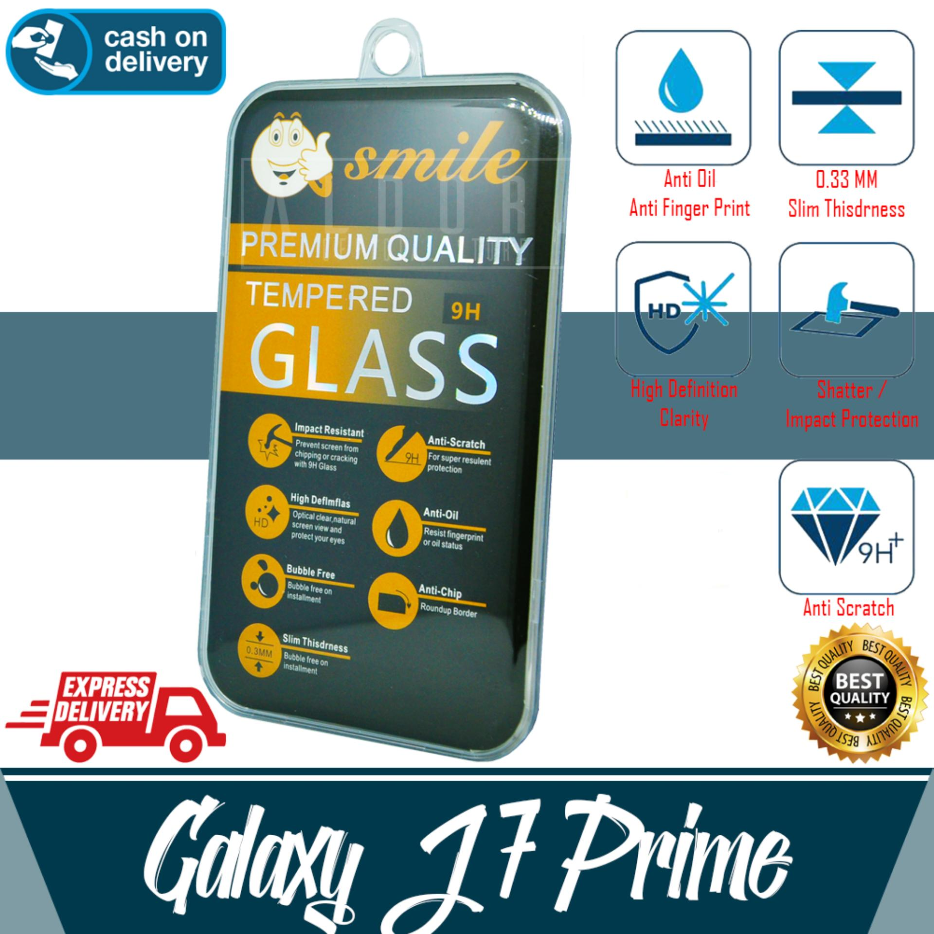 Aldora Tempered Glass Anti Gores Kaca Pelindung Layar Smile Series For Samsung Galaxy J7 PRIME