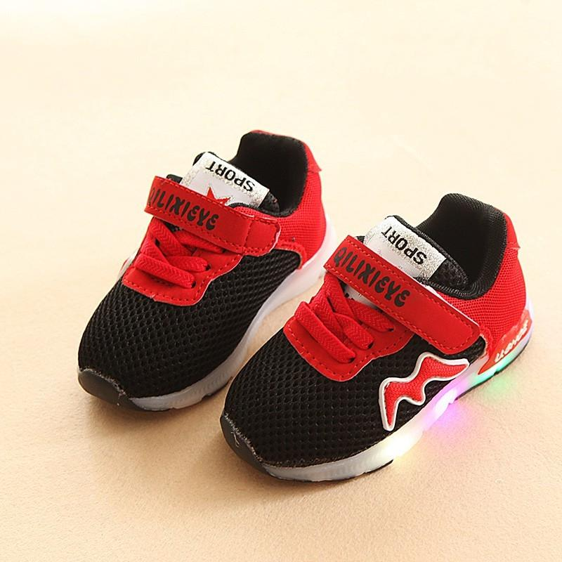 Sepatu Anak Lampu LED Sepatu Anak Import Lampu Sepatu Anak LED Murah Sepatu LED Pink Black