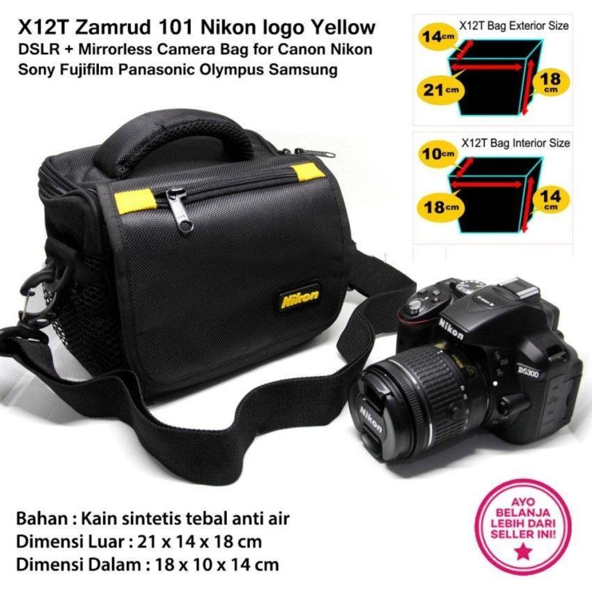 X12T Zamrud 101 Nikon logo Yellow for DSLR + Mirrorless Camera Bag for Canon Nikon Sony