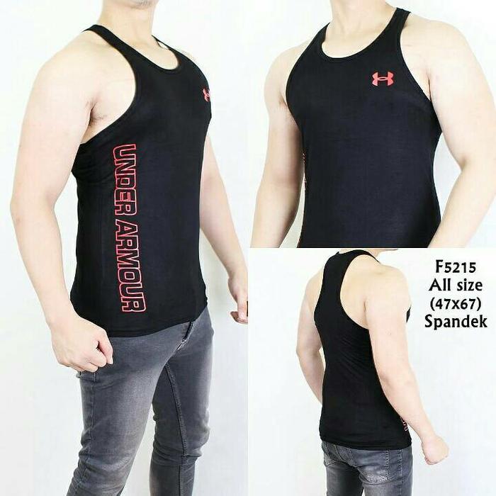 HARGA SPESIAL!!! Kaos Singlet pria Gym Fitnes Sport - C68kHA