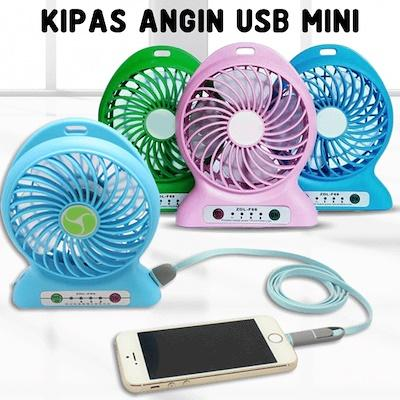 Kipas Angin USB Mini Powerbank / Kipas Angin Mini Portable / Mini Fan USB Portable Bisa Charger Hp Random