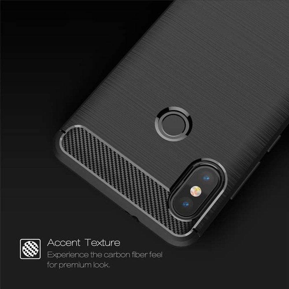 XIaomi Redmi Note 5 Pro Spigen Case Casing Cover Tpu Carbon FIBER LINE Ori