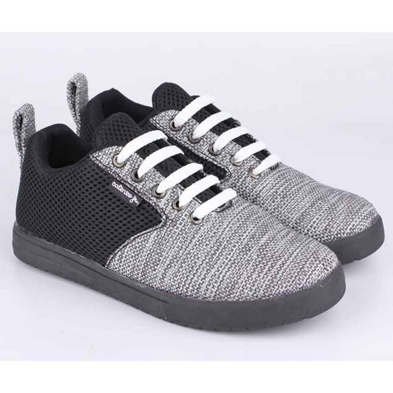 Ukuran 33-37 Sepatu Casual Sneakers Anak Laki-Laki Cowok Tali Hitam Komb CTF 011 CR