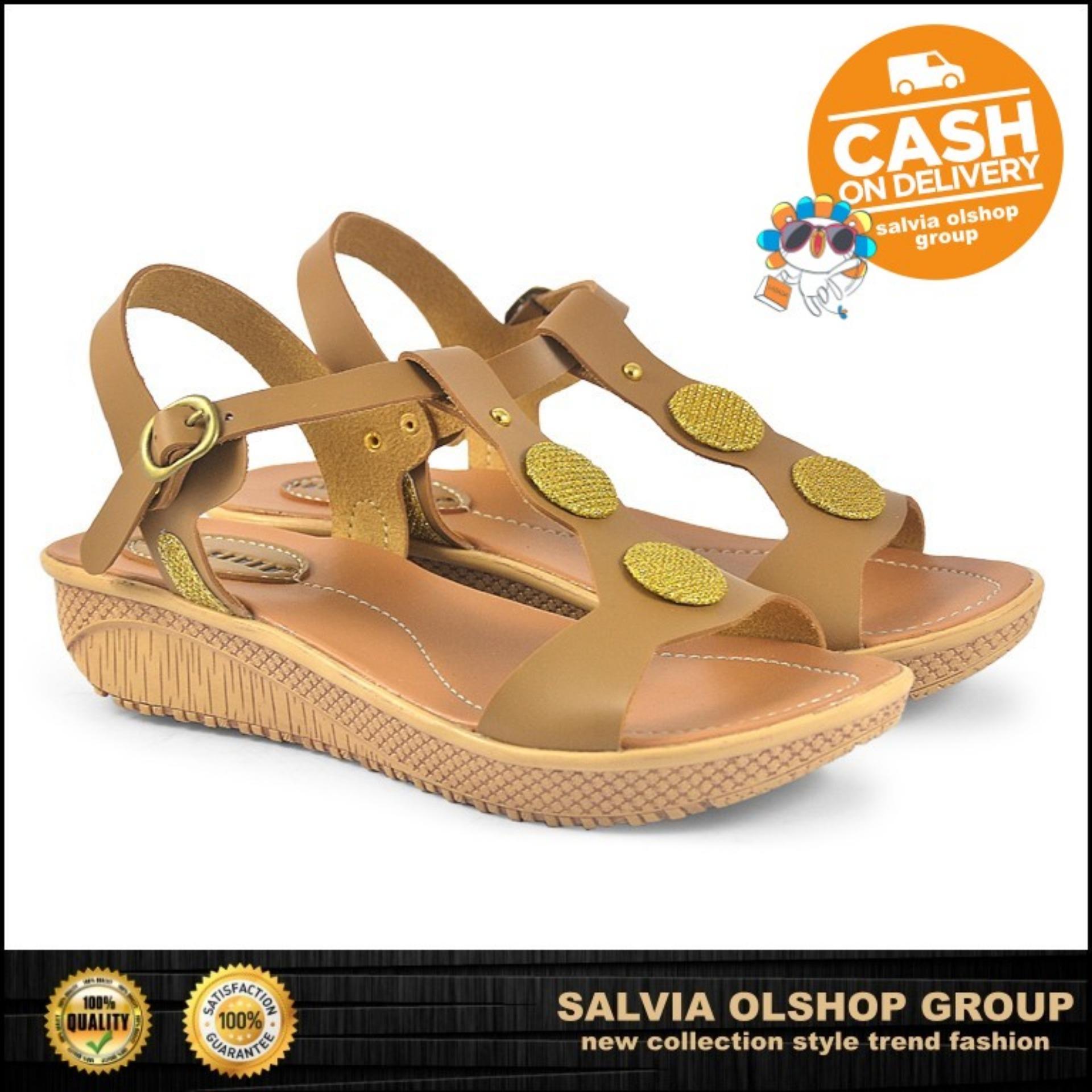 Sandal Flat Wanita CBR Model Terbaru Dan Modis ART 008 - Coklat