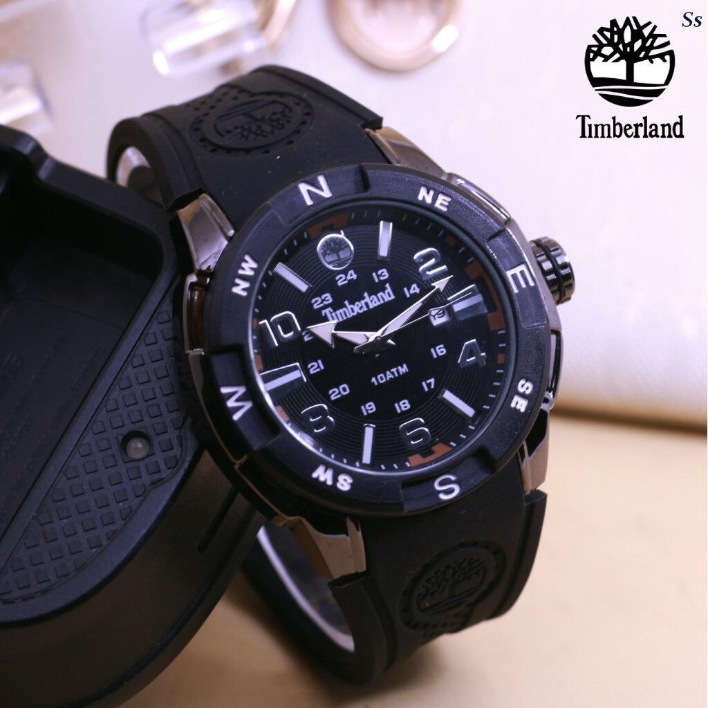 jam tangan pria - timberland - Rubber strap - water resistant