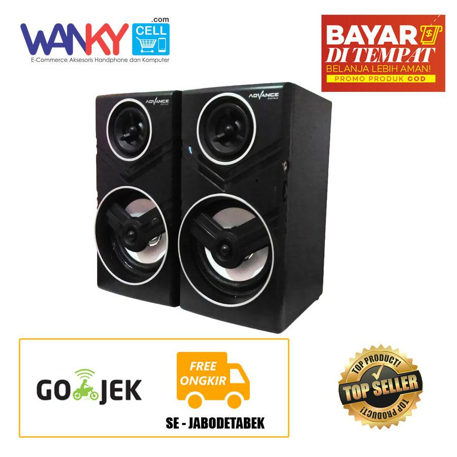 Beli Advance Speaker Duo 080 Portable Multimedia Speaker 2 With Volume Control Hitam Murah