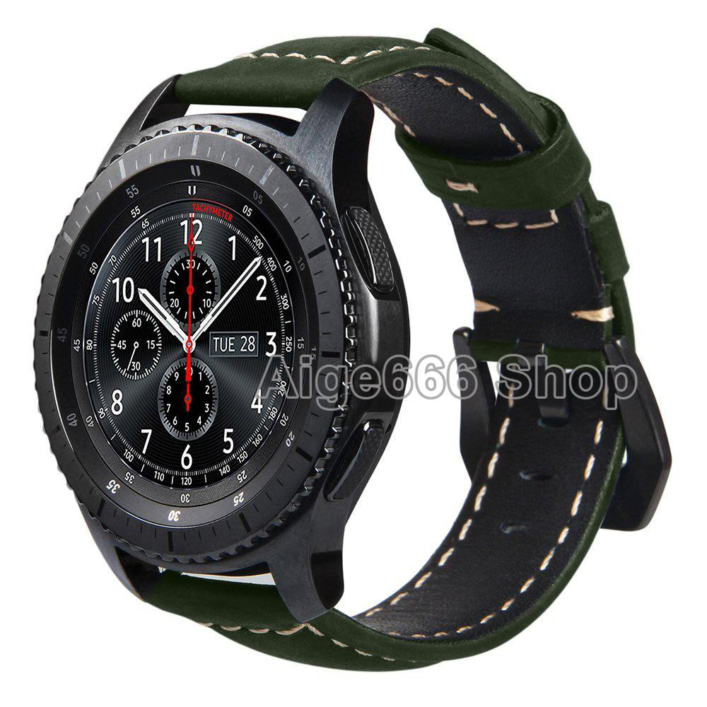 Toko Penggantian Crazy Horse Lembut Genuine Leather Strap For Samsung Gear S3 Klasik Sm R770 S3 Frontier Sm R760 Sm R765 Smart Watch Band Online Tiongkok
