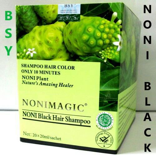 Beli 1 Box Noni Magic Bsy Noni Magic Black Hair Shampoo Secara Angsuran