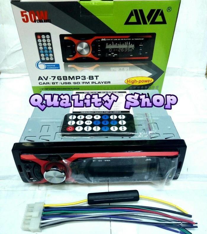 ORIGINALS  PALING MURAH!!! tape mobil AVA BLUETOOH USB SD dan RADIO ( 50X4 watt)