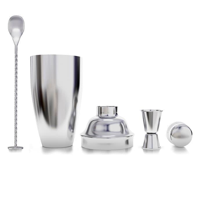 cocktail shaker / koktail set 720 ml – with jigger & bar spoon – mixo
