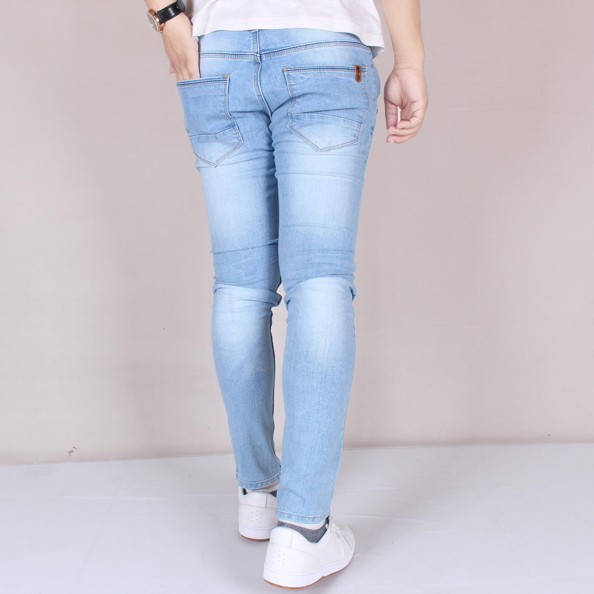 Detail Gambar Zs-fashion 6008 Celena Jeans Panjang Pria Celana Jeans Skinny Cowok Skinny Jeans Blue Sky Simple Celana Jeans Slimfit Denim STRETCH Terkini