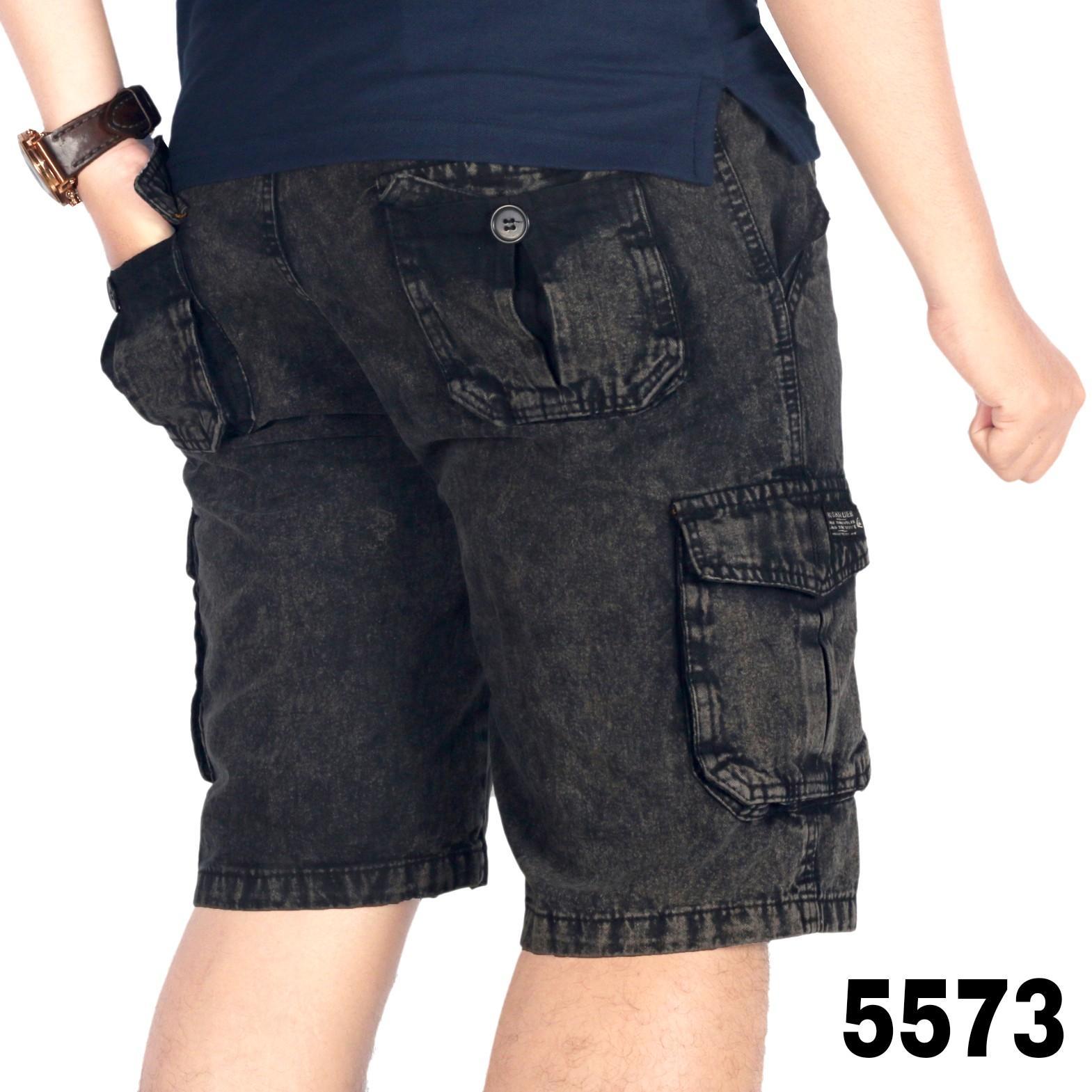Bsg_Fashion1 Celana Pendek Hitam Polos Distro / Celana Skinny/Celana Pants/Celana Santai/Celana Casual/Celana Motif/Celana Polos/Celana Pria/Celana Cino/Celana Pantai/Celana Denim/Celana Jeans / CELANA JEANS KARGO /CELANA KARGO AN 5573 5574 5576 5575 - 5