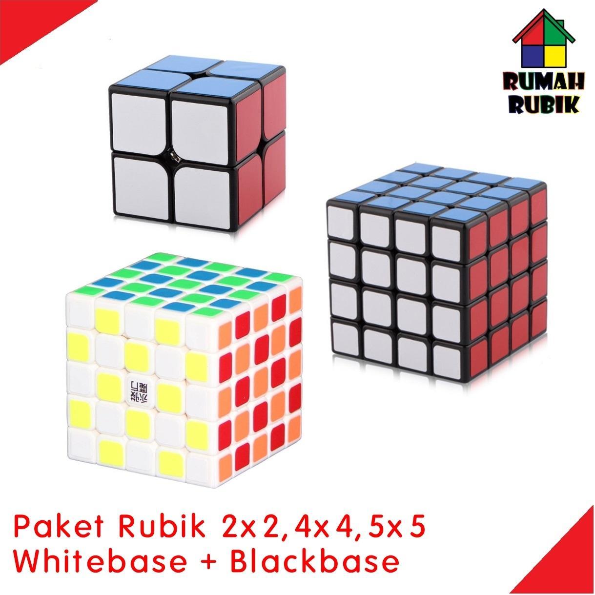 Paket Rubik YJ 2x2 Guanpo B + YJ 4x4 Guansu B + YJ 5x5 Yuchuang W