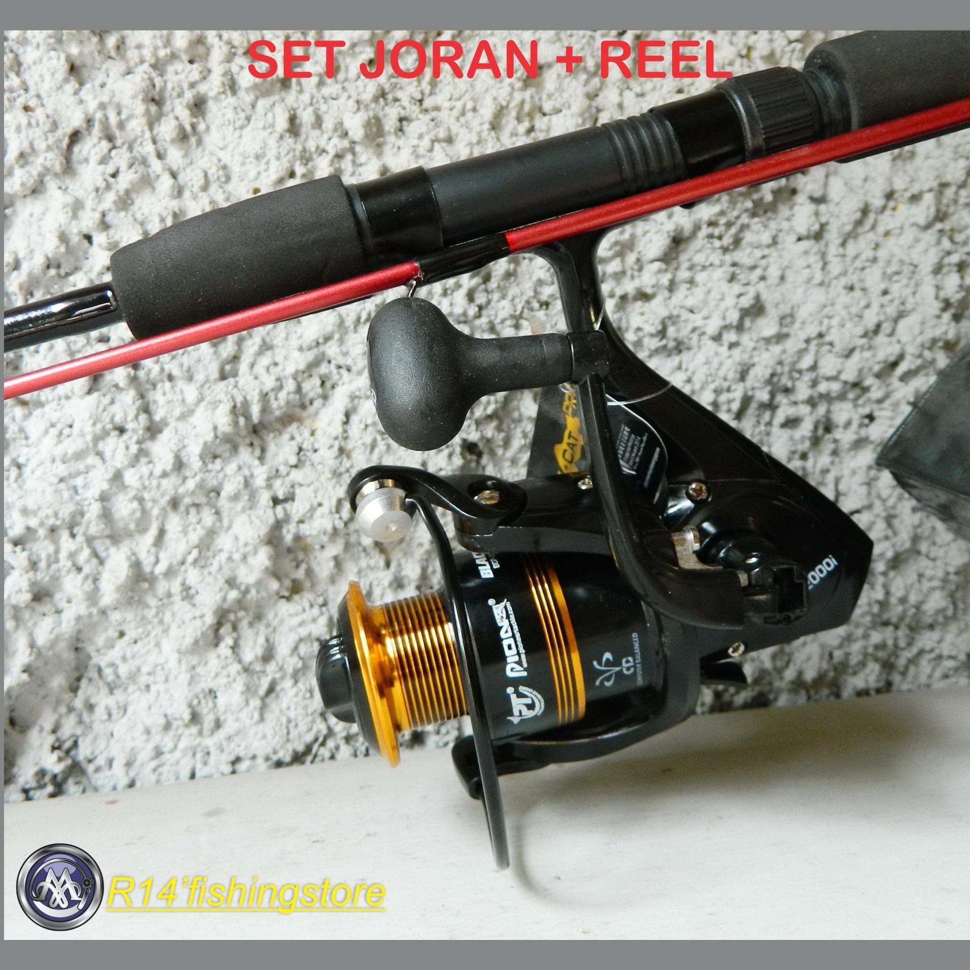 Set joran & reel PIONEER BLACK CAT PRO 2000 sealion extra