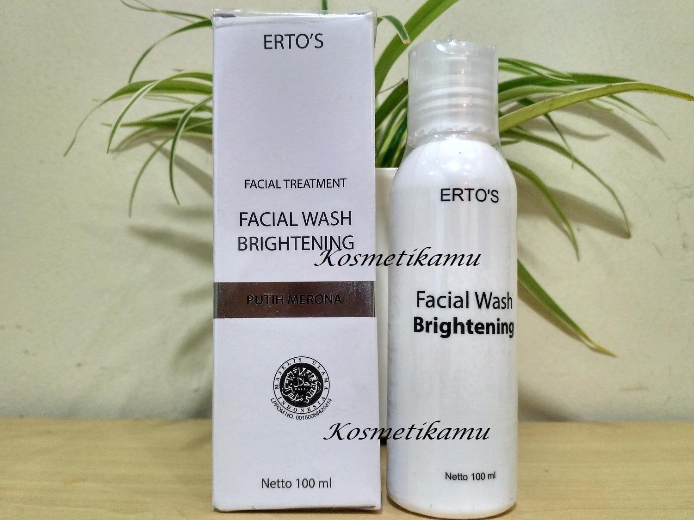 Kelebihan Ertos Facial Refresher Brightening Original Toner Facian Treatment Wash Sabun Muka 100ml