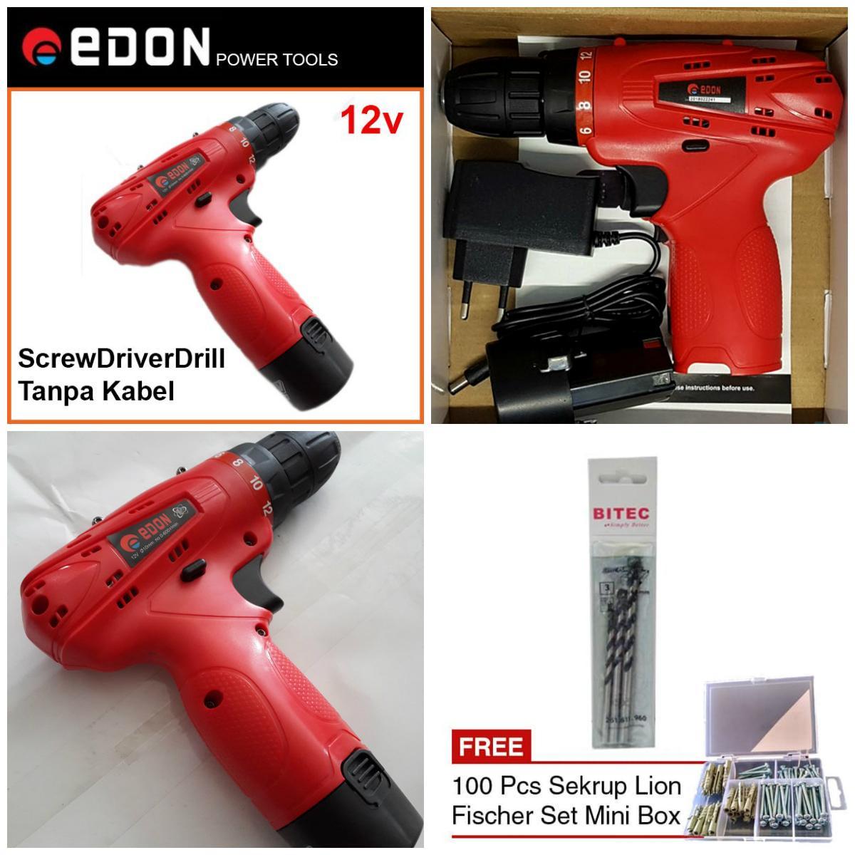 Kelebihan Mata Bor Besi Set 13 Pcs 1 5 6 5mm Kenmaster Plus Bonus Kayu Tembok Dan Obeng Fisher Paket Edon Cordless Drill Baterai Bitec 3 100pcs