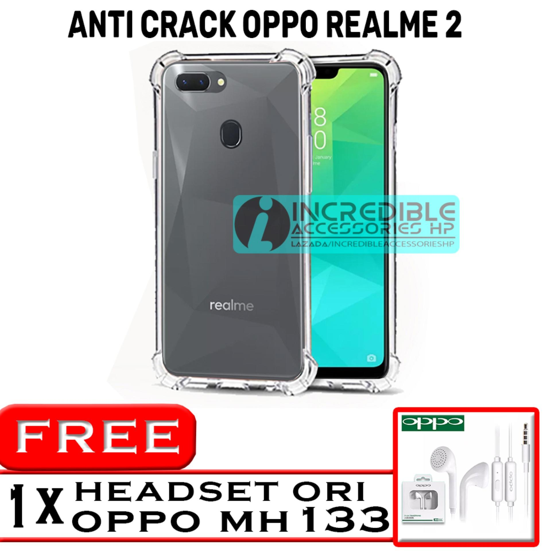 Anti Crack for Oppo Realme 2 Softcase Elegant Anti Shock Jelly Case - Bening + Free