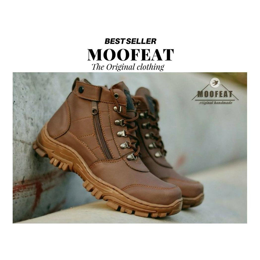 Work & Safety Boots Leather Sepatu Boots Pria Boots Klasik Casual Kerja Formal Sneakers Hitam