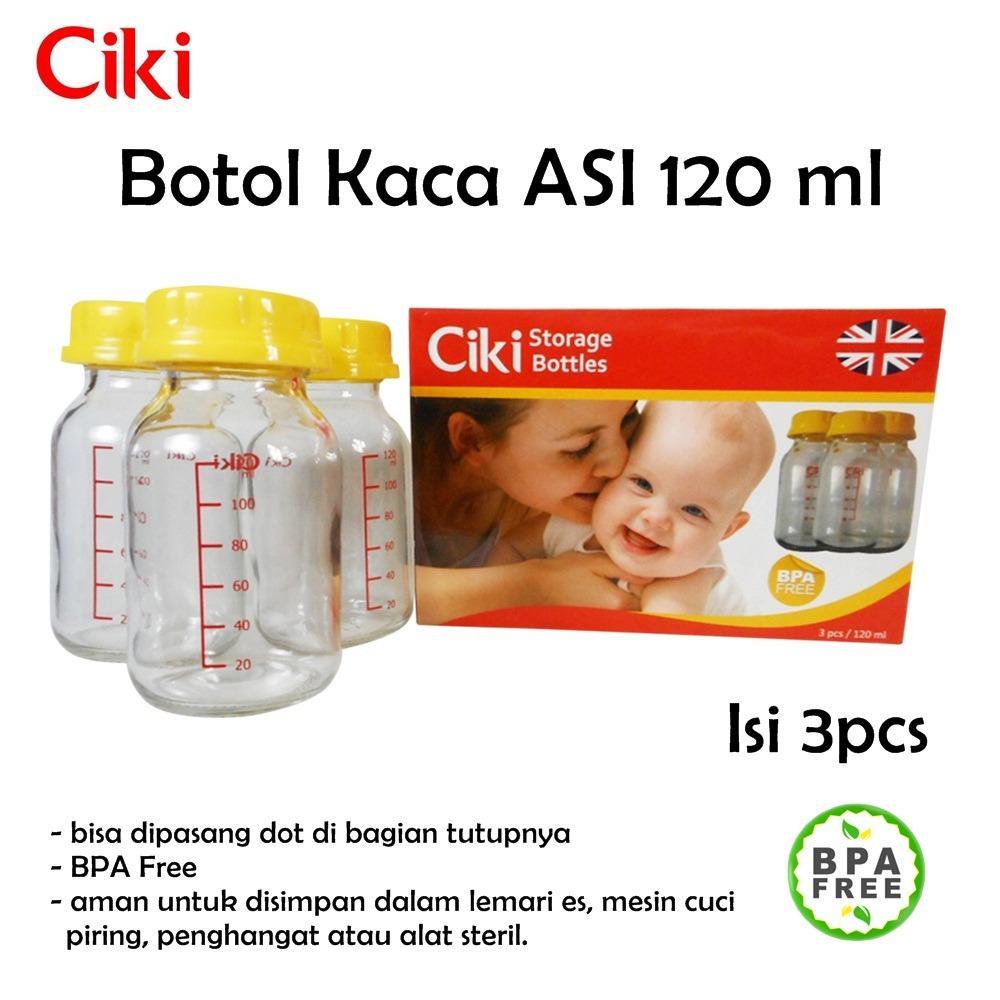 Ciki Botol Kaca ASI 120ml Isi 3pcs / Botol Susu / Botol ASI