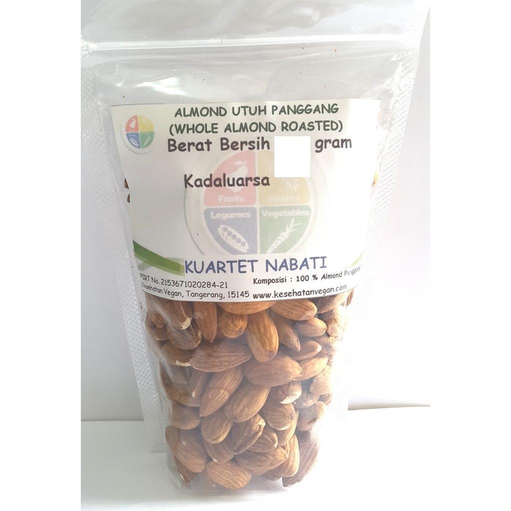 Jual Almond Roasted Whole Kupas Cangkang Panggang Size Besar 27 30 250 Gr Branded